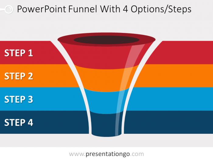 Free editable curved powerpoint funnel diagram with 4 levels free editable curved powerpoint funnel diagram with 4 levels ccuart