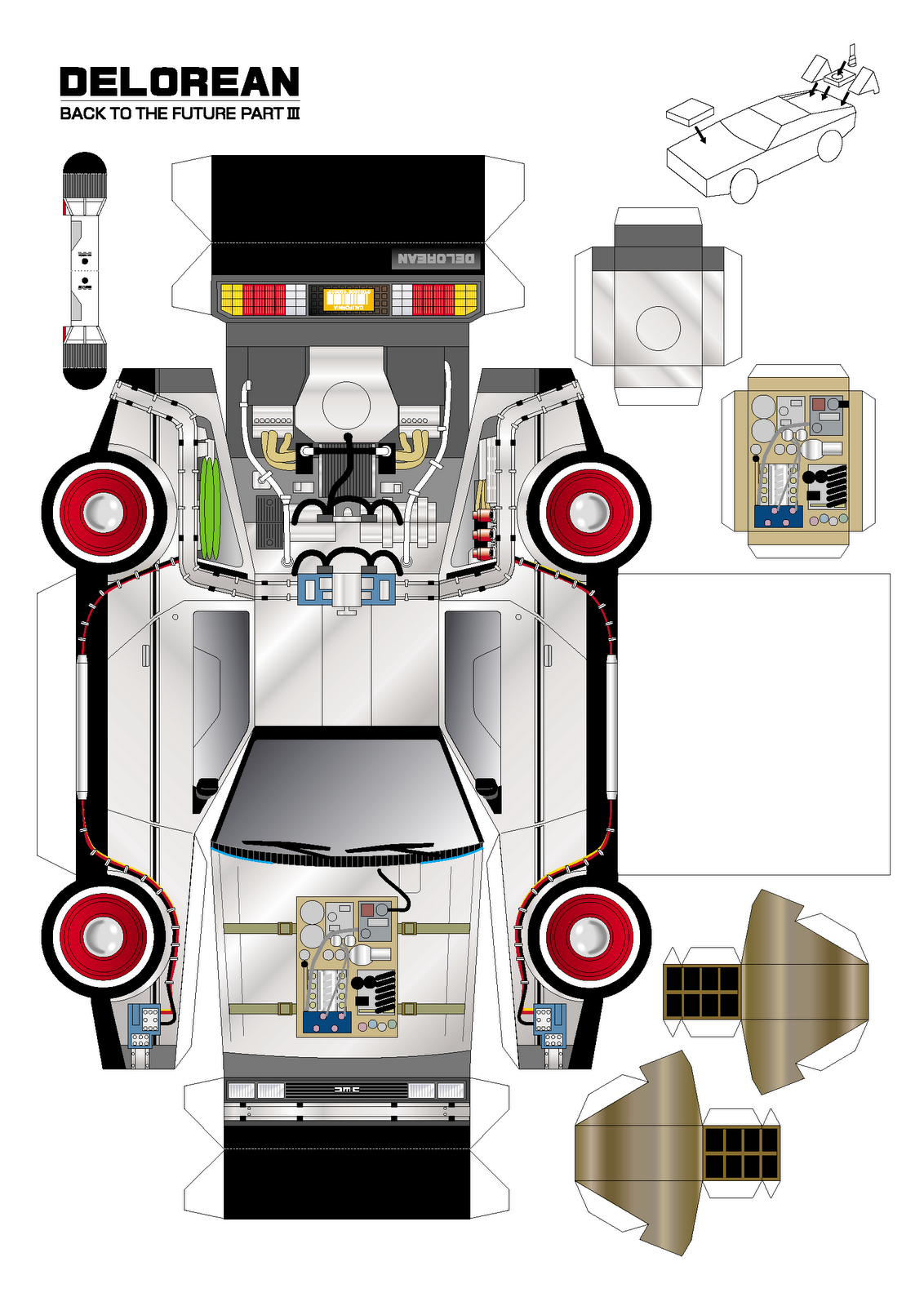 autos para armar de papel | Sobres de papel, Carro electrico ...