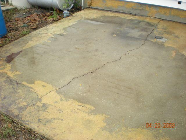 concrete patio cracked and unlevel   Concrete patio ... on Unlevel Backyard Ideas id=74711