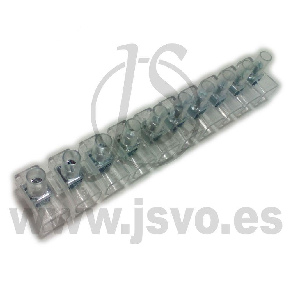 Regleta transparente ciega de 10 conexiones Electro dh 792 edxBorCW