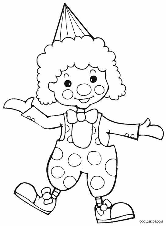 Clown Coloring Pages | Coloring pages for kids, Clowns for kids ...