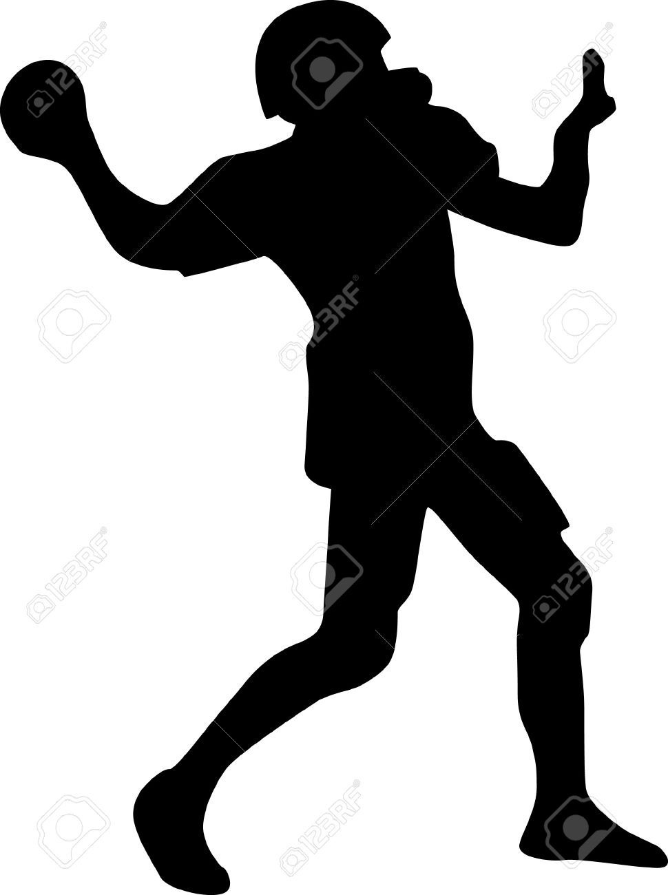 Image Result For Outline Of Football Player Football Players Football Human Silhouette