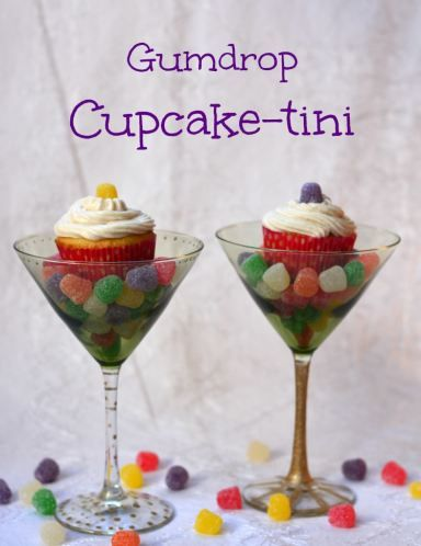 Gumdrop Cupcaketini from Growing Up Gabel using supplies from the