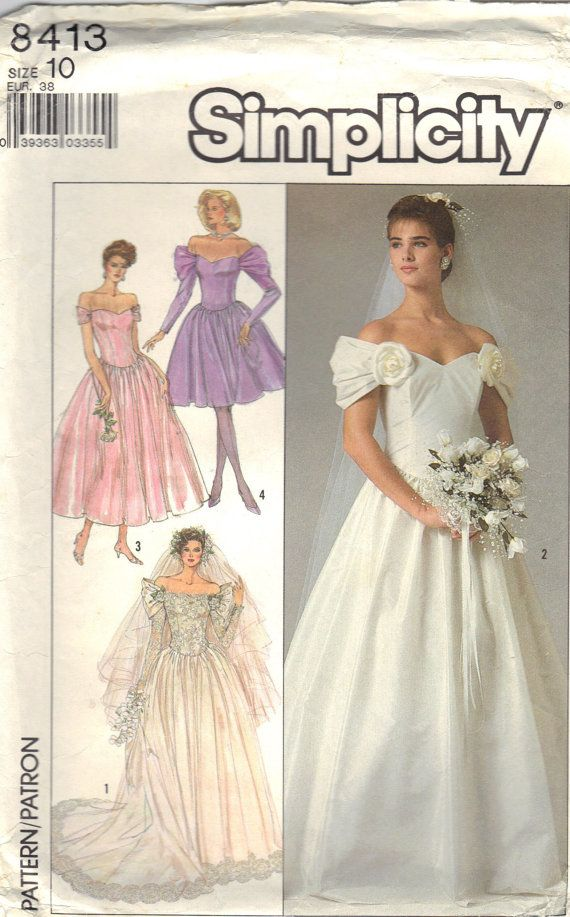 Vintage Simplicity 8413 Sewing Pattern Bridal Gown by byLisaAnne ...