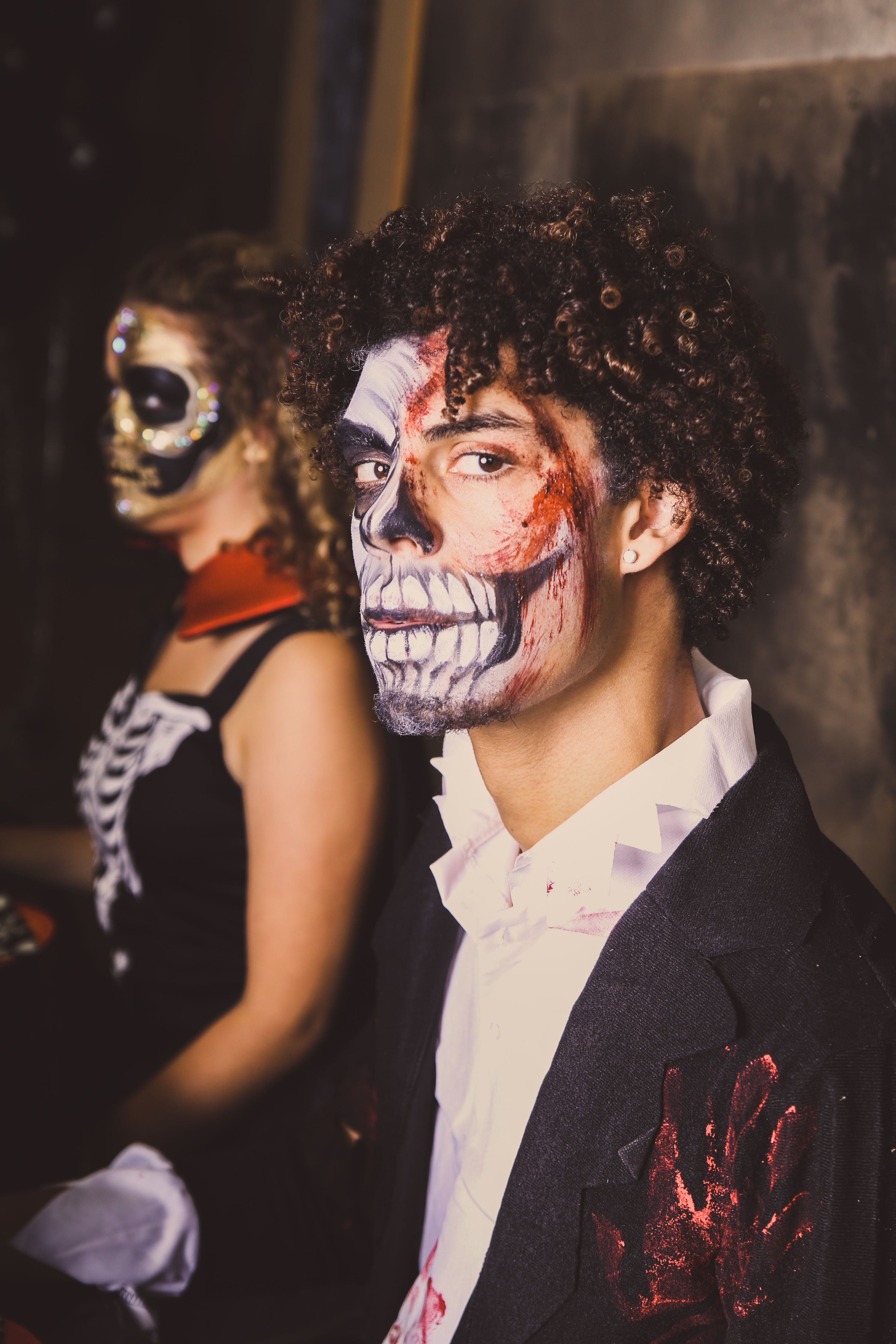 Kostuum Kopen Halloween.Halloween Kostuum Met Passende Skull Schmink Voor Mannen