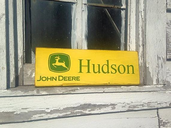 Personalized John Deere Sign by ShumardsCrafts on Etsy