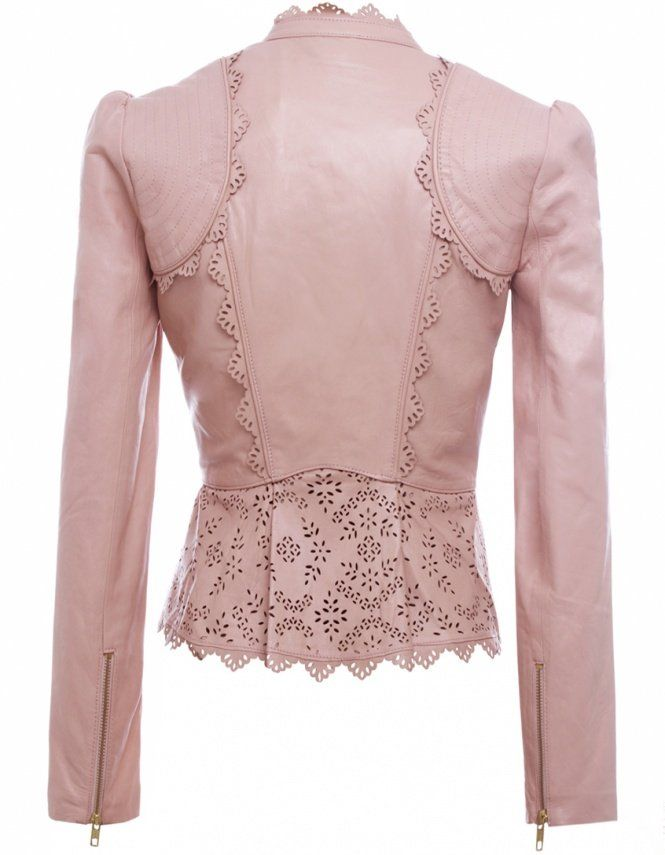 1c9e39d096ba Pretty pink leather jacket (back view)