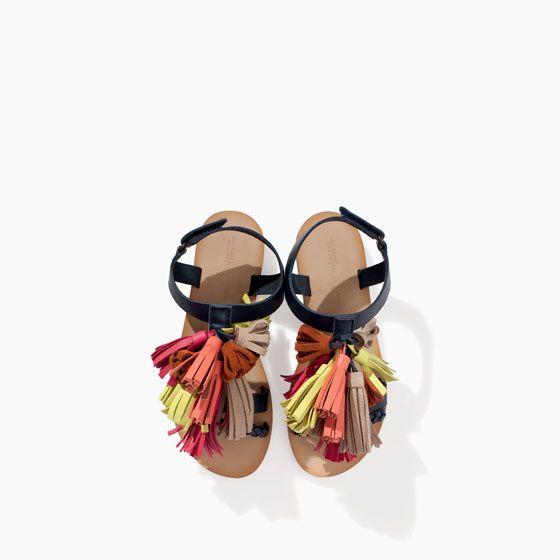 Nova coleção mulher sandália de couro POM POM 3F