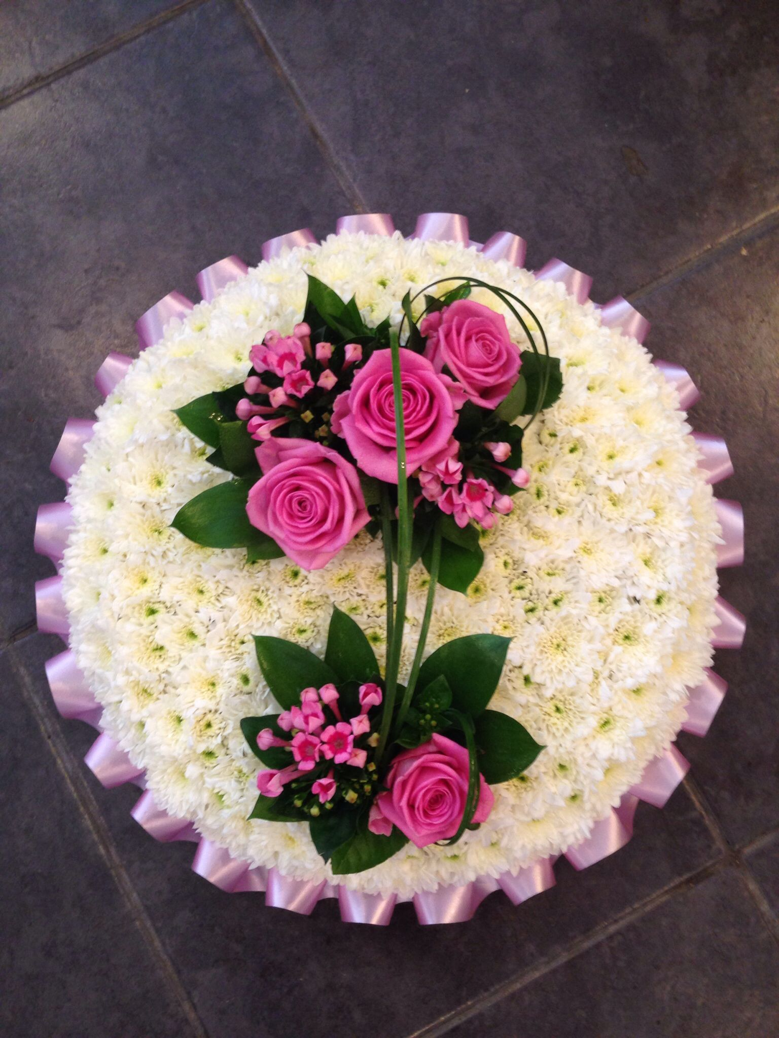 Pink posy pad Sympathy Flowers Pinterest