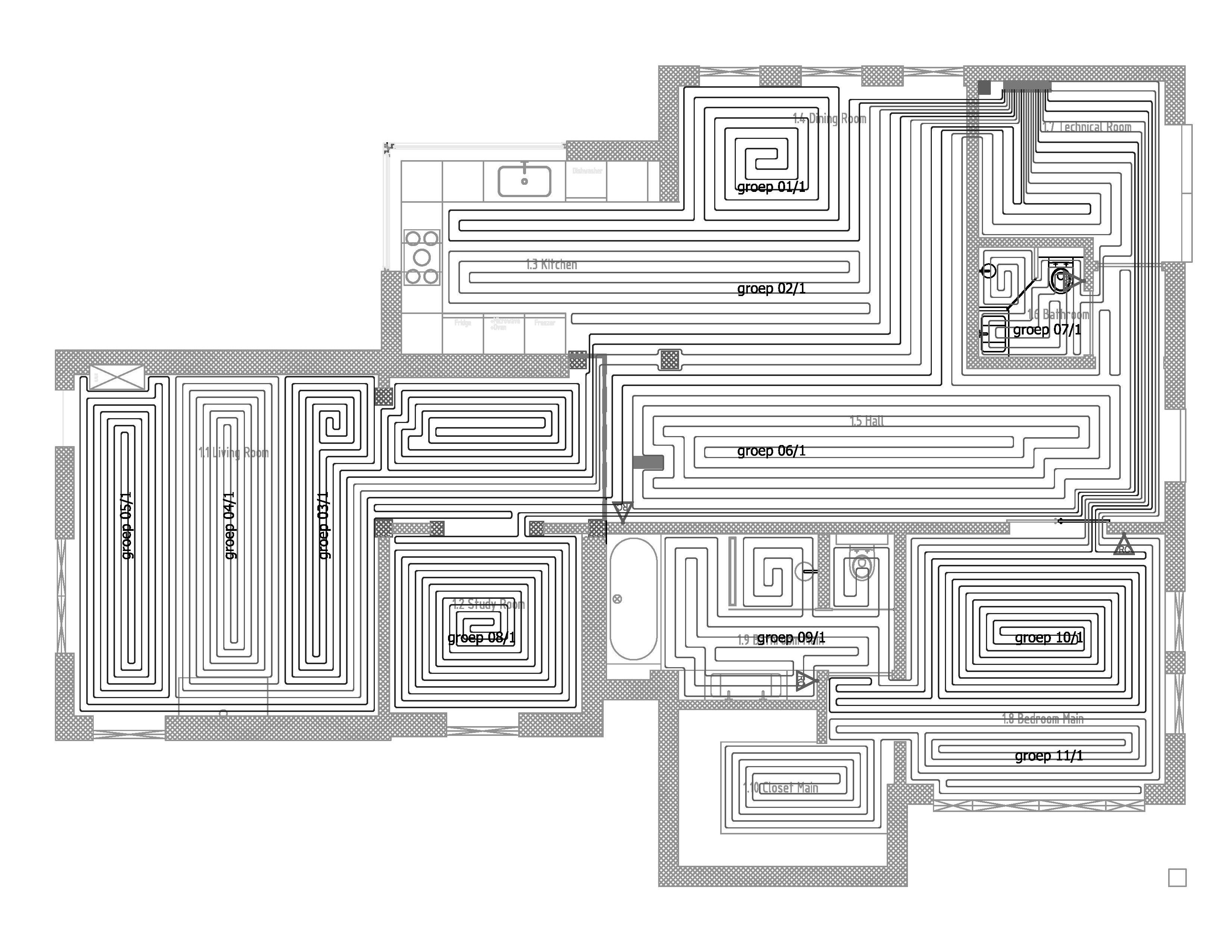 Lay Plan Ground Floor Heating Systems Home Heating Systems House Heating