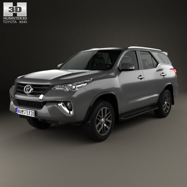 Toyota Fortuner 2016 3d model from humster3d.com