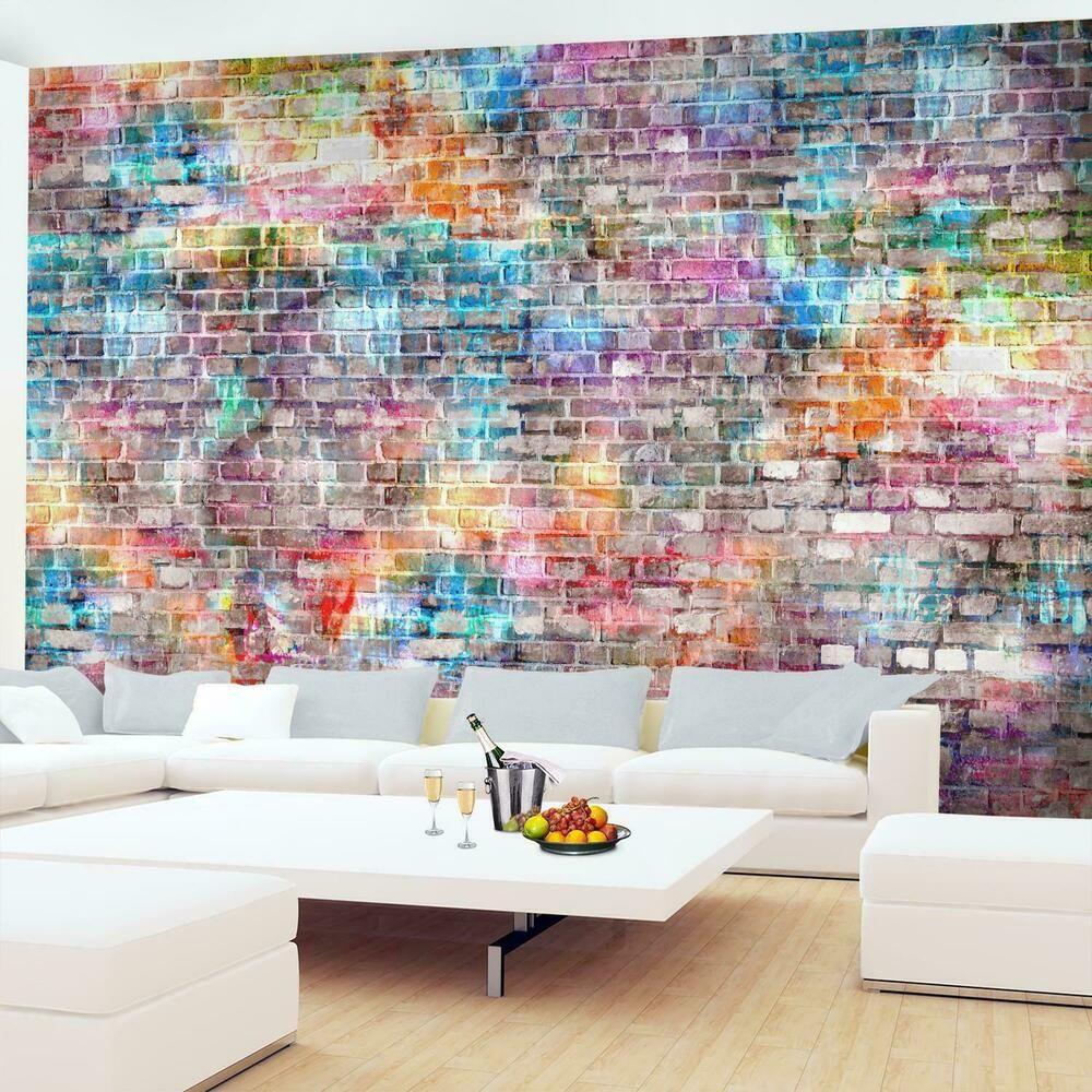 Fototapete 3d Optik Vlies Steinwand Ziegel Tapete Wandbilder Xxl Wohnzimmer In 2020 Ziegel Tapete Fototapete Fototapete 3d