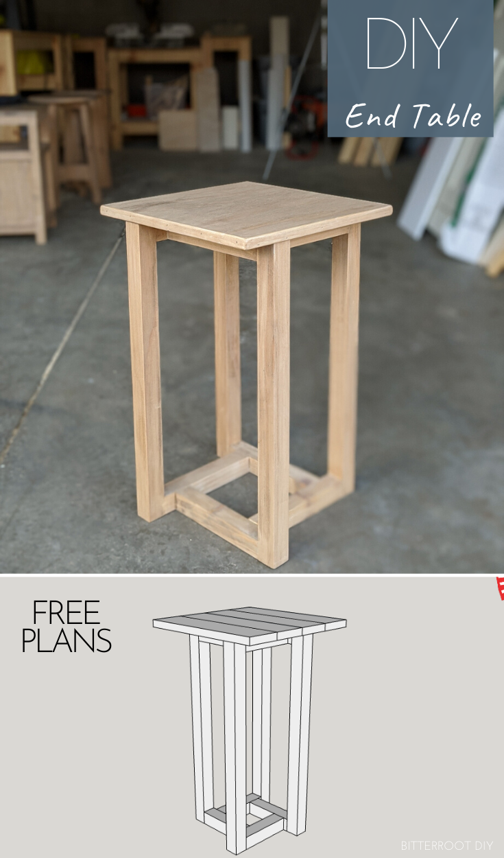 Geometric DIY End Table |