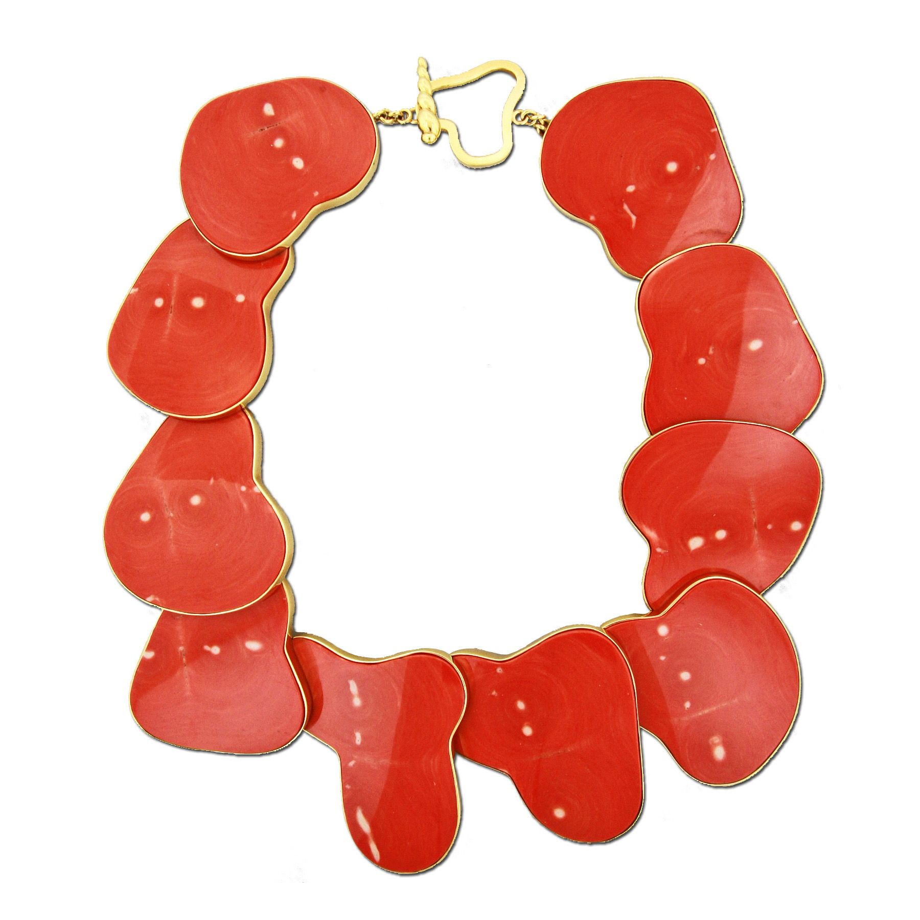 Coral And Gold Necklace By Taffin Simon Teakle Coral Joyeria