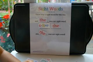 great tutorial to learning sight words