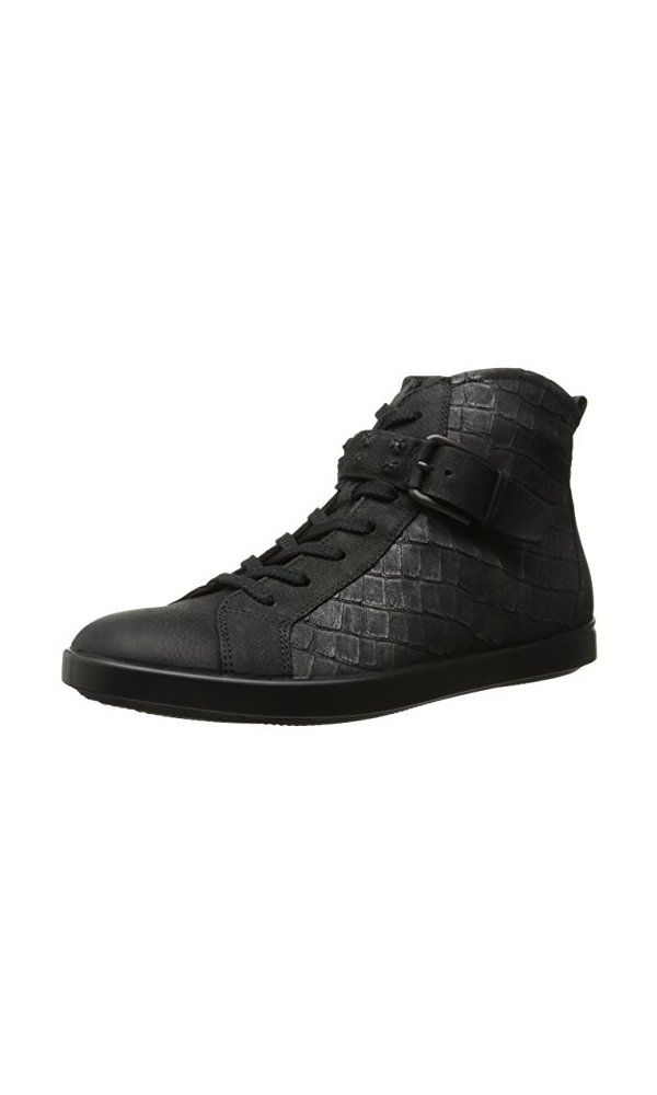 1541 Ecco Footwear Womens Aimee High Top Sneaker Flat Black 41