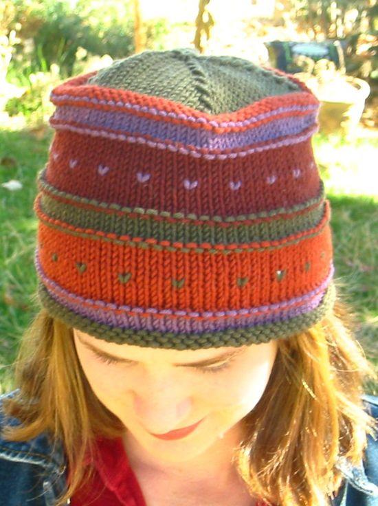 KnittingPureandSimple-freepattern-islehat. Love the colours in this hat. 07cf7d4acbb