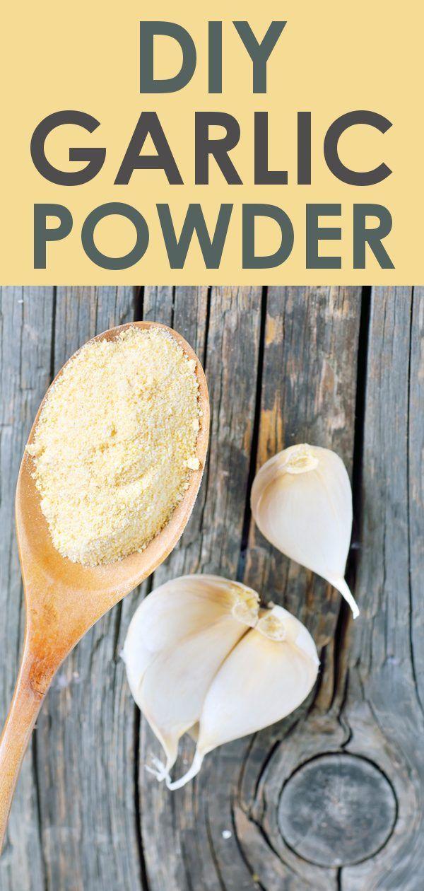 DIY Garlic Powder Recipe Garlic, Garlic powder