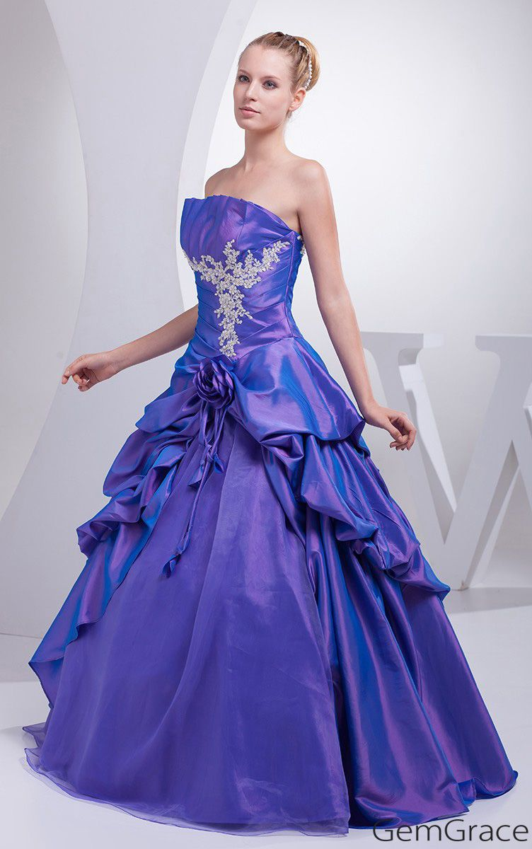 Purple Taffeta Lace Ruffles Ballgown Colored Wedding Dress Oph1187 242 9 Gemgrace Com Wedding Dresses Taffeta Colored Wedding Dress Delicate Gown [ 1200 x 752 Pixel ]
