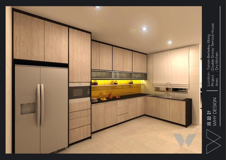 An old terrace house design in dry kitchen at klang for Kitchen decoration malaysia