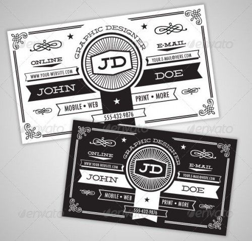 Black And White Vintage Business Card Lewis Pinterest - Vintage business card template
