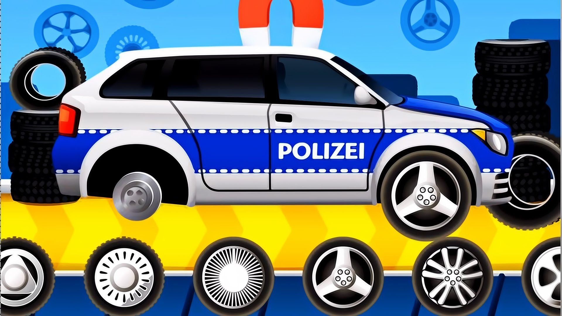 Dream Cars Factory Police Car Best iOS Game App for Kids