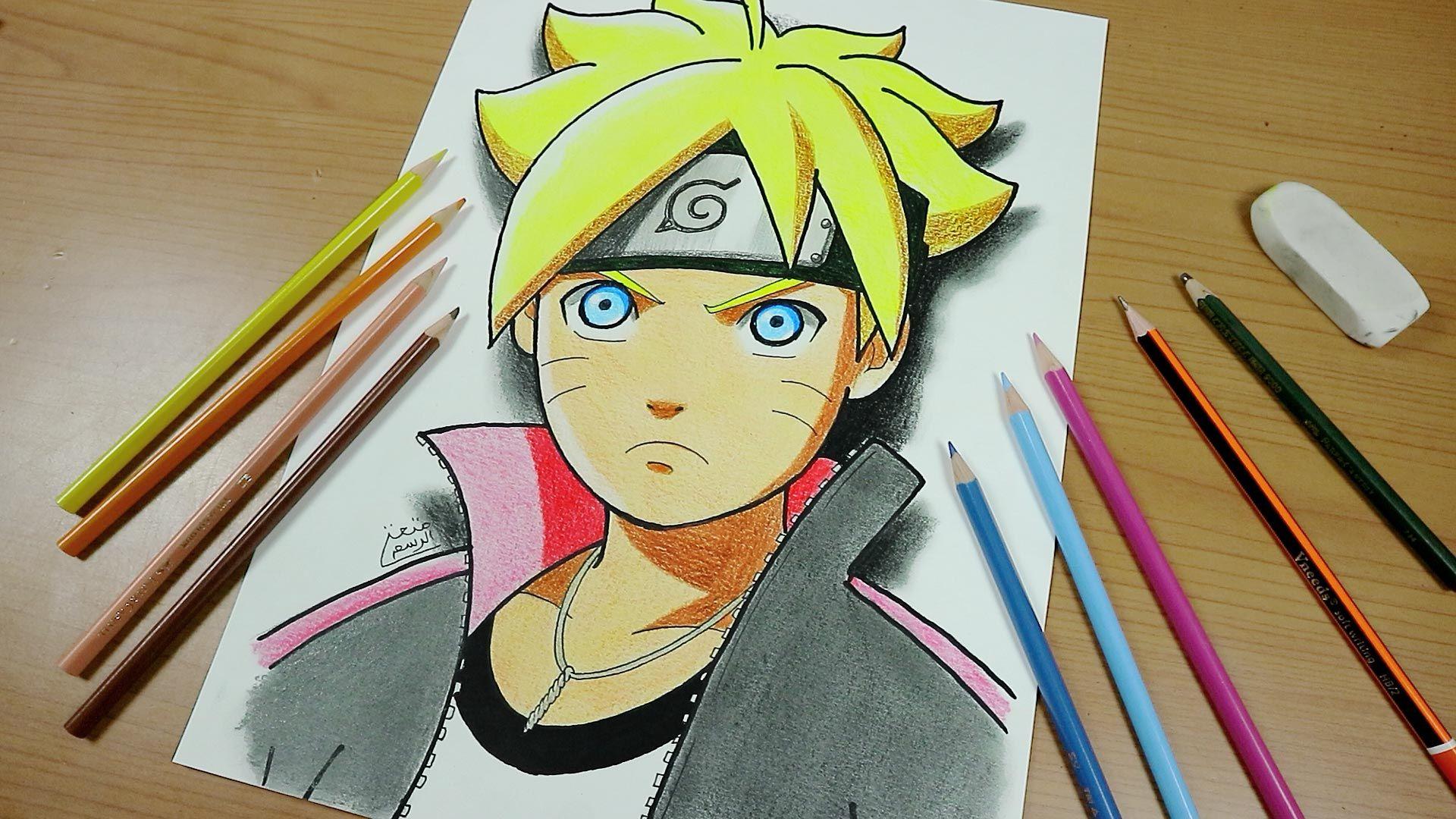 تعلم رسم بوروتو خطوة بخطوة How To Draw Boruto Zelda Characters Art Character
