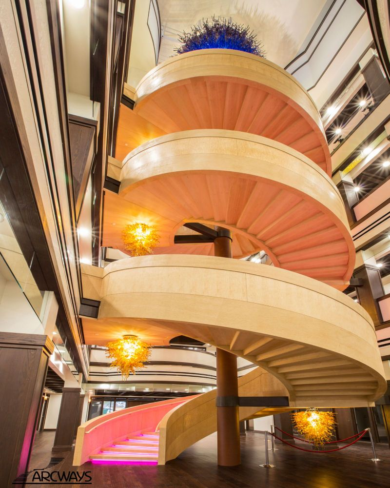 Best Commercial Spiral Staircase Project For Frontier State 400 x 300