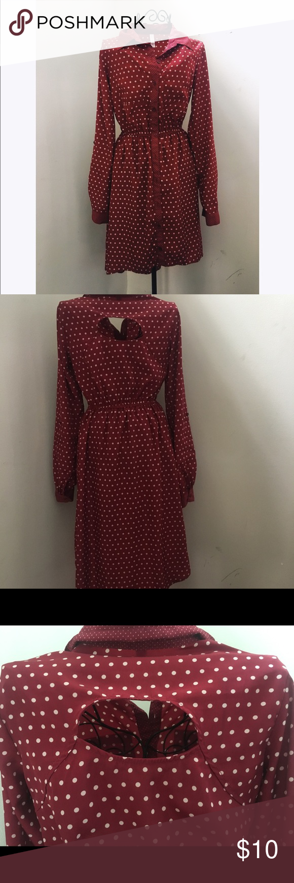 Red Polka Dot Dress With Cutout Red Polka Dot Dress Dot Dress Polka Dot Dress [ 1740 x 580 Pixel ]