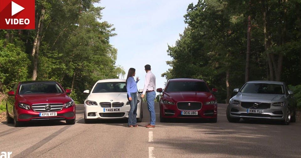 New Mercedes E-Class Tested Against Jaguar XF, Volvo S90 & BMW 5-Series #BMW #BMW_5_Series