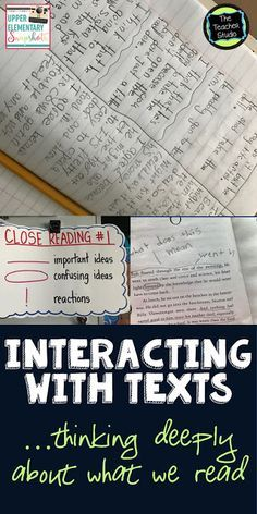Interacting With Text: 3 Ideas...