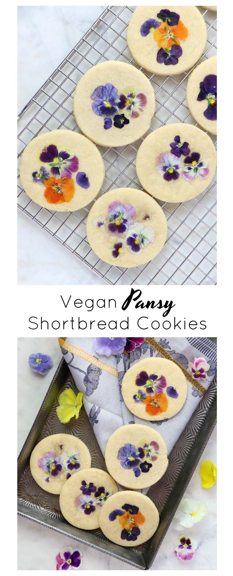 Vegan Pansy Shortbread Eat Drink Shrink Recipe In 2020 Vegan Sweets Vegan Save Food