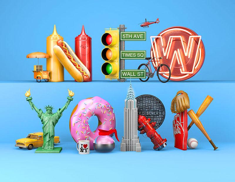 Beautiful 3d Typography Artworks To Broaden Vision Typography Artwork Typographic Artwork 3d Typography