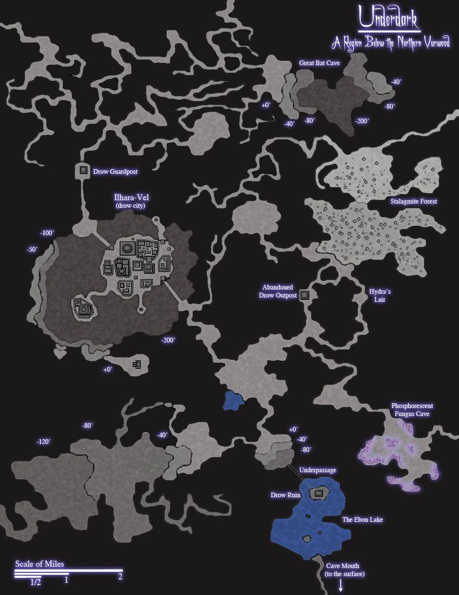 Underdark Map : underdark, Underdark, Fantasy, Maker,