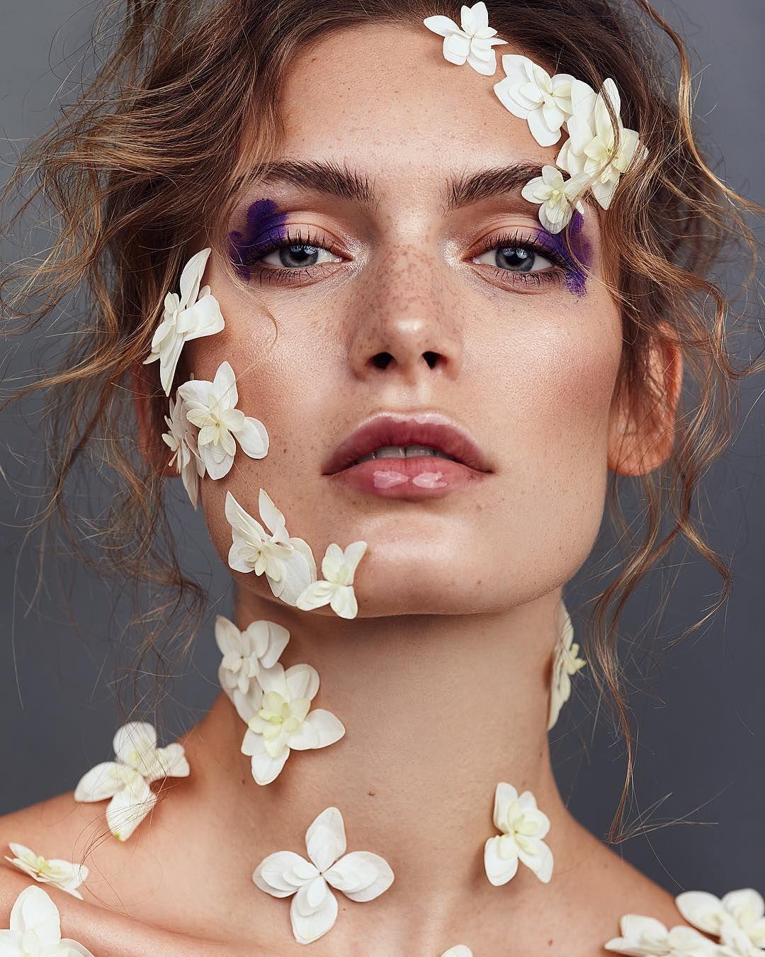 Pin By Princie On Makeup Flower Makeup Photoshoot Makeup