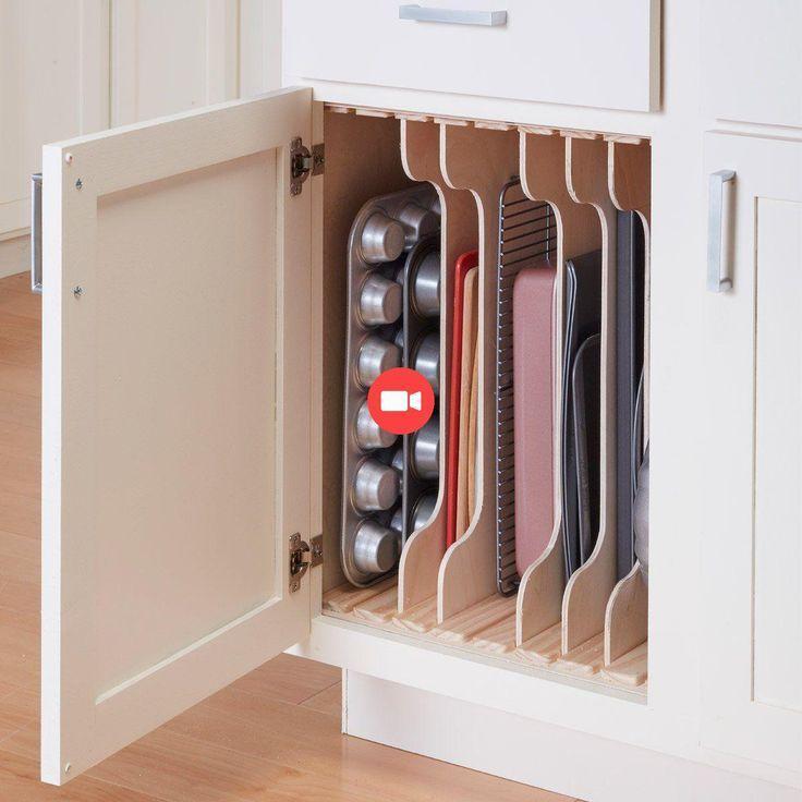 Küchenschrank Organizers: DIY Einstellbare Schlitzteiler Orgel… - io.net/decor - DeuBlog