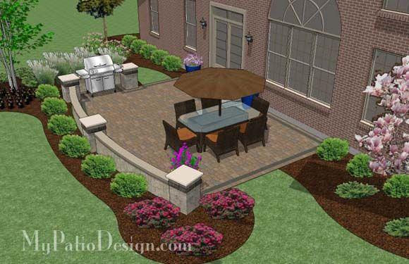 Backyard Patio Tall Edge With Pavers Google Search Patio