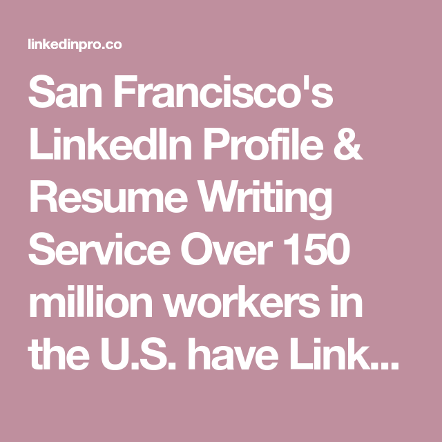 Resume writing service san francisco