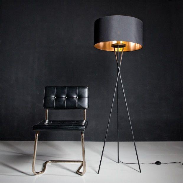 Eglo fondachelli vloerlamp zwart 151 cm
