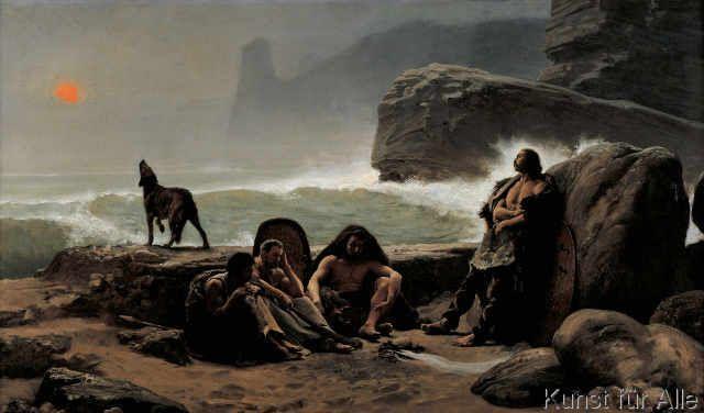 Jean Jules Antoine Lecomte du Noüy - Les gardescôtes gaulois (Die gallischen Küstenwächter)