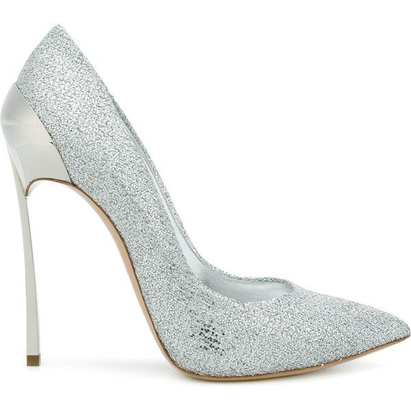 Techno Blade glittered pumps - Metallic Casadei Discount Release Dates 7NV0b
