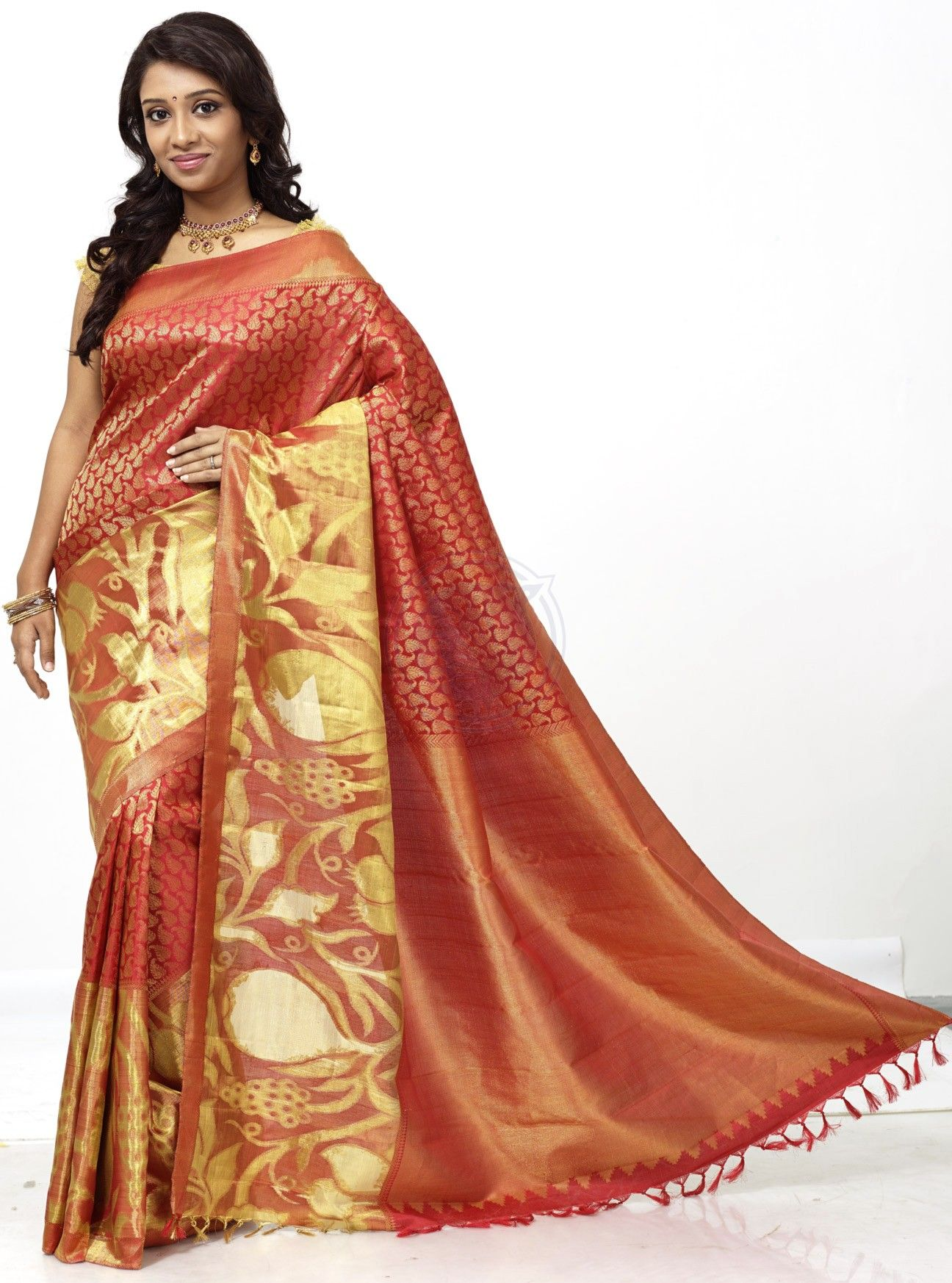 pure kanchipuram bridal silk saree - buy online : The