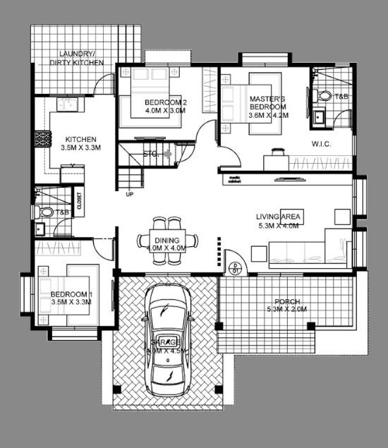 Desain Rumah 1 1 2 Lantai 4 Kamar Tidur Desain Rumah Desain Rumah