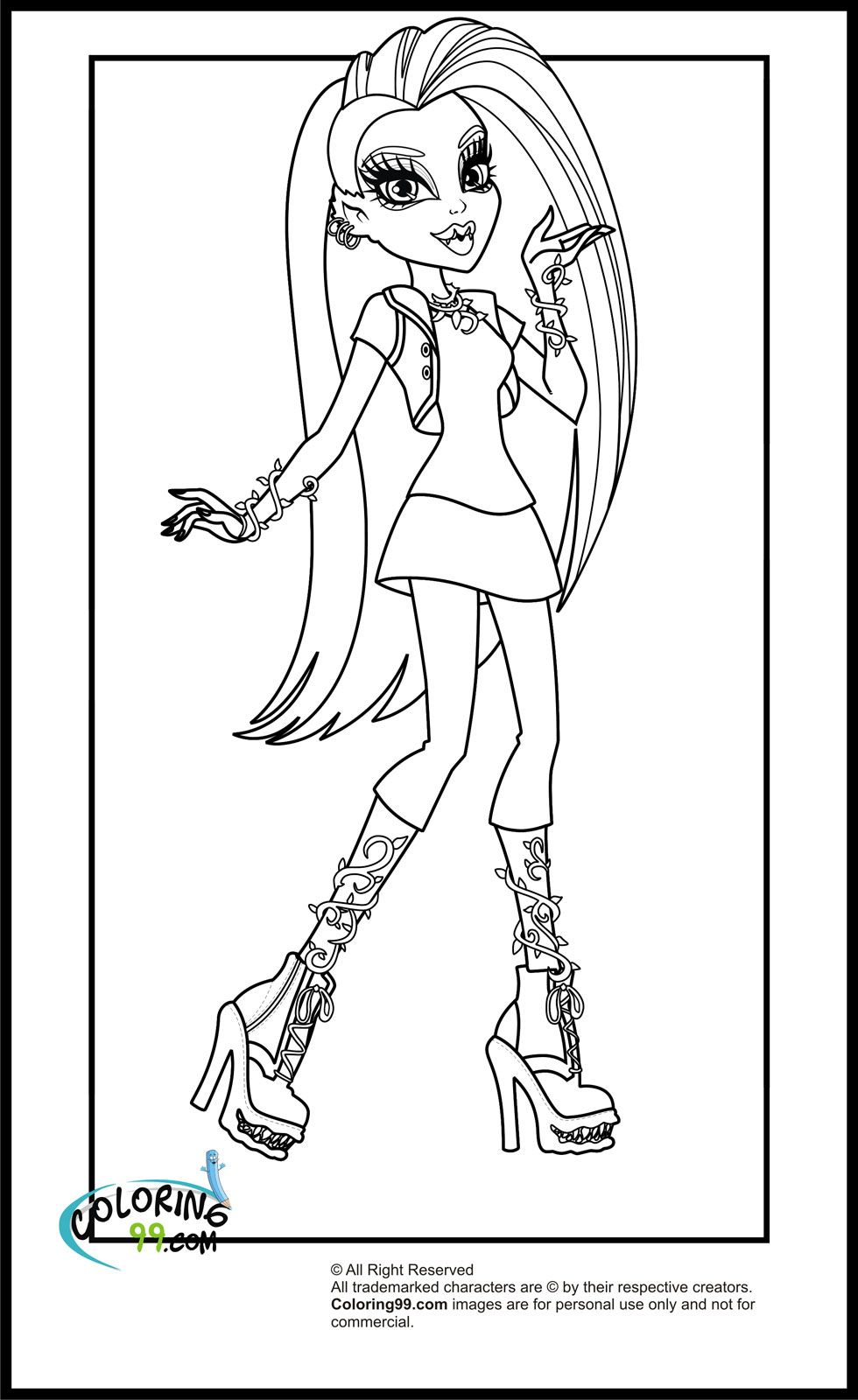 Monster High Coloring Pages Clawdeen Wolf. Coloring Pages Of Monster ...