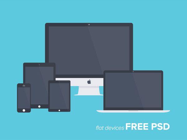 Free Flat Apple Device Mockups Web Design Design Web Design Resources
