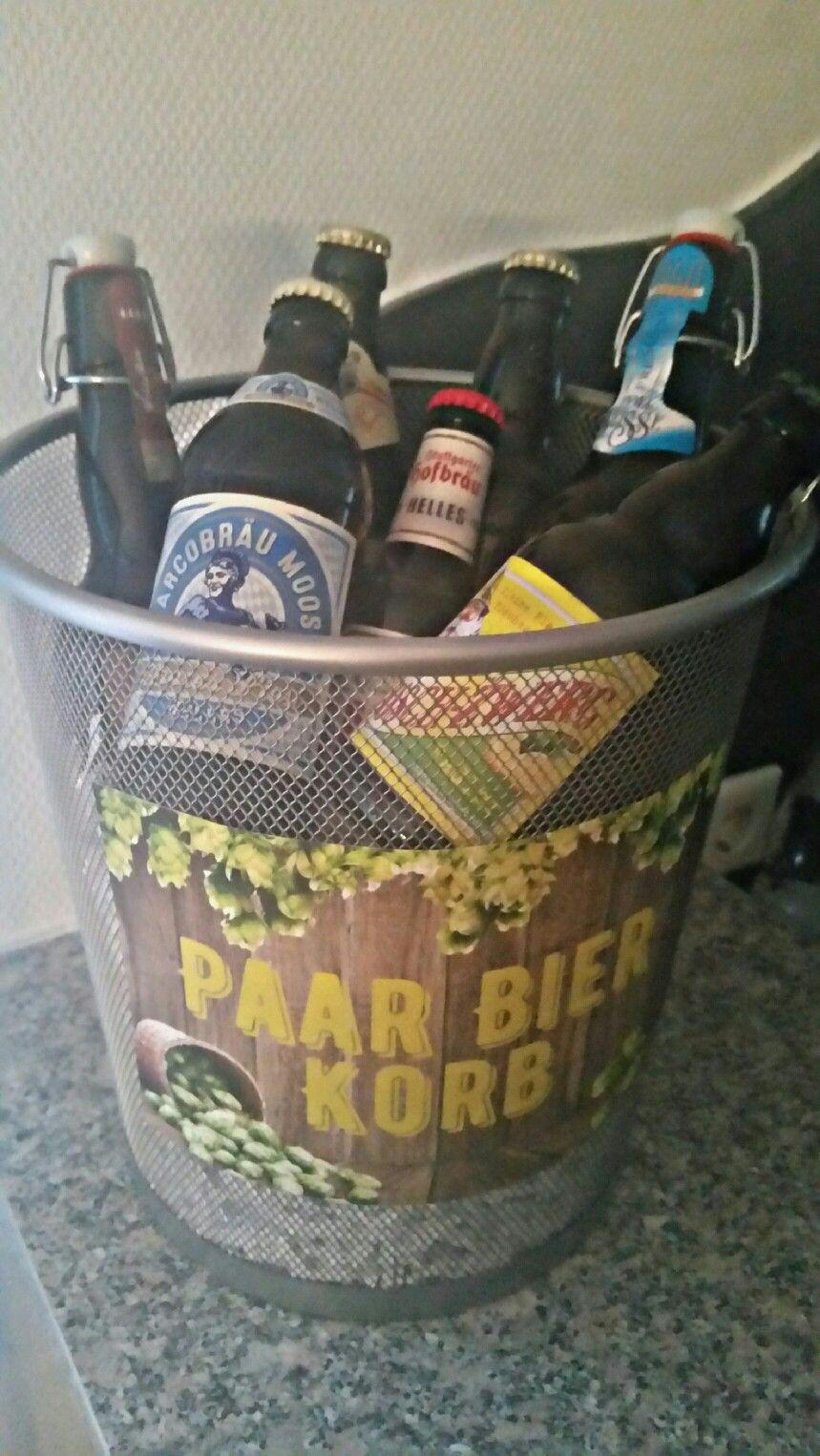 Paar Bier Korb, Biergeschenk für Männer   beer gift for men ...