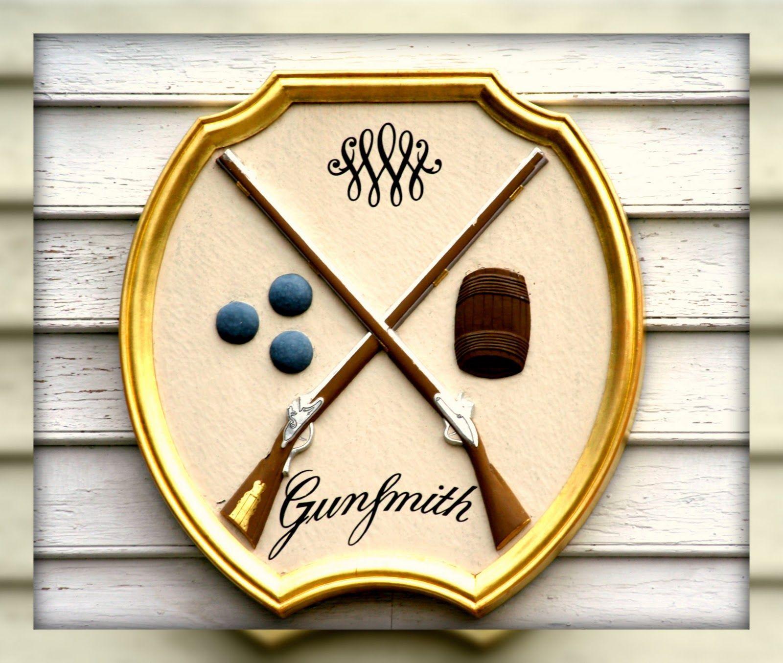 Gunsmith Sign Colonial Williamsburg Williamsburg