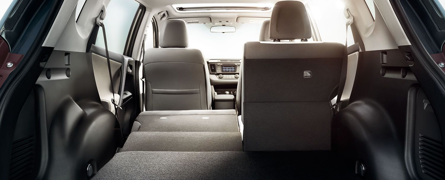 XLE interior shown in Ash fabric with available Entune