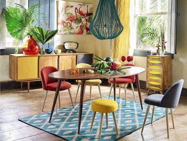 Osez les chaises de tables colorées Decorating and Lights
