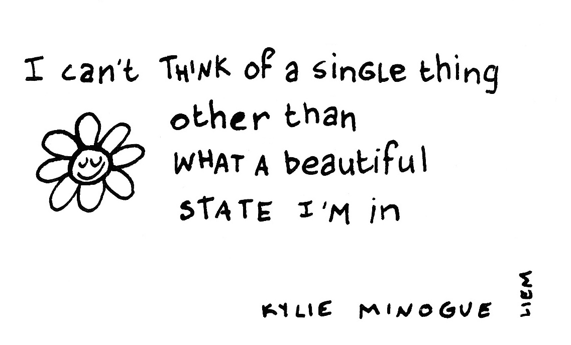 Kylie Minogue. In your eyes. 365 illustrated lyrics